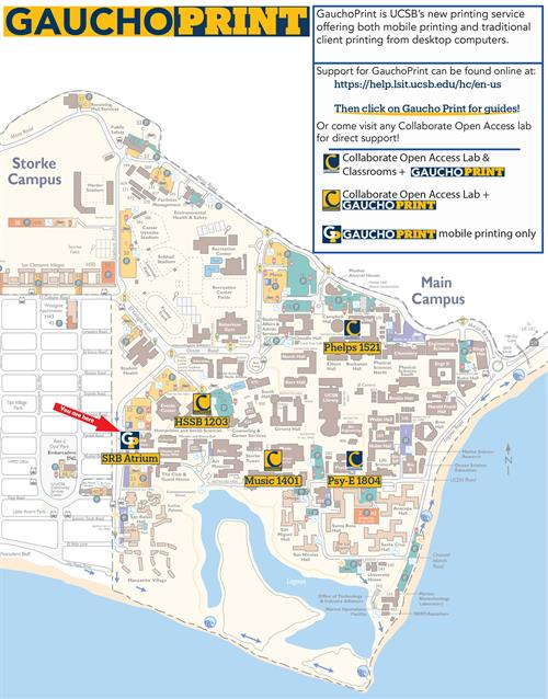 Campus GauchoPrint Map