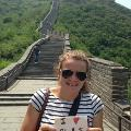 Becca Durr loves CLAS at the Great Wall